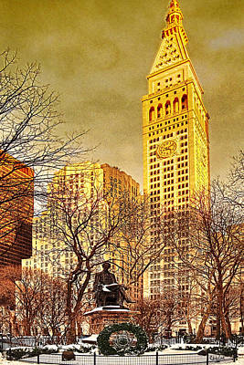 Ten Past Four At Madison Square Park Art Print