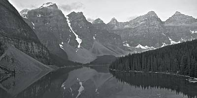 Photograph - Ten Peaks Black And White by Frozen in Time Fine Art Photography