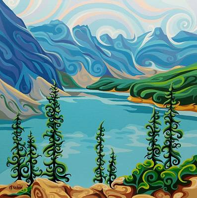 Painting - Ten Peaks by Christine Karron