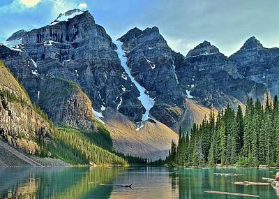 Photograph - Ten Peaks From Waters Edge by Frozen in Time Fine Art Photography