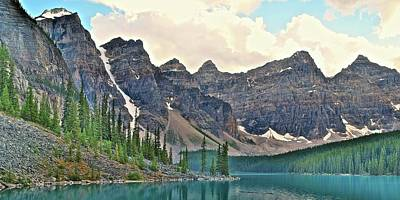 Photograph - Ten Peaks Valley At Moraine Lake by Frozen in Time Fine Art Photography