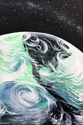 Art Print featuring the painting Tenaciously Mindful by Nathan Rhoads