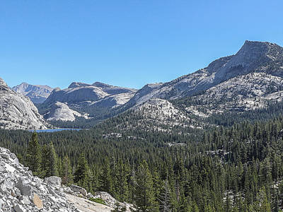 Tenaya Lake And Surrounding Mountains Yosemite National Park Art Print