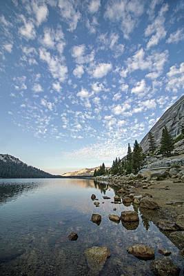 Photograph - Tenaya Lake Reflections by Angie Schutt