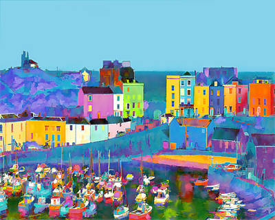 Tenby Harbour  I Print by Gareth Davies