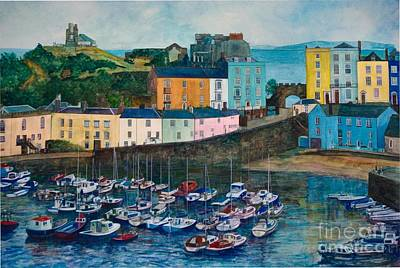 Tenby Harbour Painting - Tenby Harbour by Matthew David Evans