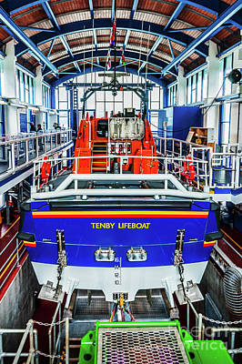 Photograph - Tenby Lifeboat 1 by Steve Purnell