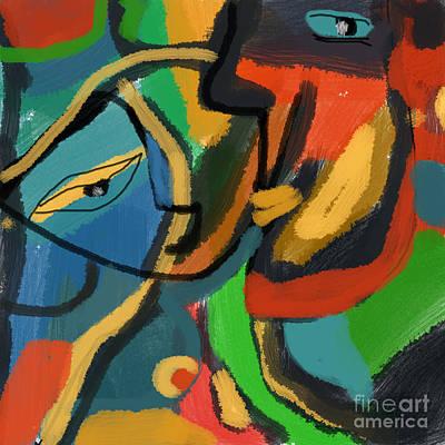 Tender Whispering Art Print by Aliza Souleyeva-Alexander