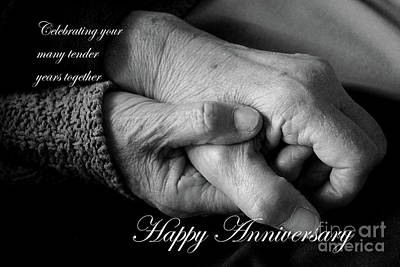 Photograph - Tender Years Anniversary Card by Nina Silver
