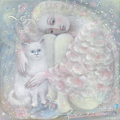 Persian Cat Painting - Tenderness by Annael Anelia Pavlova