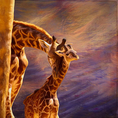 Photograph - Tenderness Painted by Judy Vincent