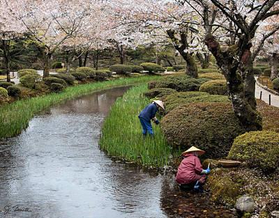 Photograph - Tending The Garden by Joe Bonita