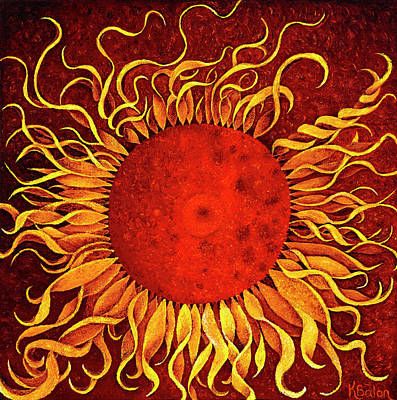 Wall Art - Painting - Tendril Sunflower by Karen Balon