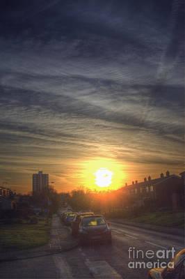 Tendring Road Sunrise Art Print by Nigel Bangert