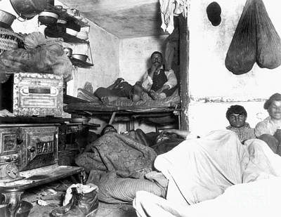 Photograph - Tenement Life, Nyc, C1889 by Granger