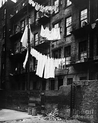 Tenement With Laundry Hanging To Dry Art Print by H. Armstrong Roberts/ClassicStock