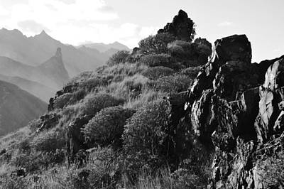 Photograph - Tenerife Anaga Mountains Monochrome by Marek Stepan