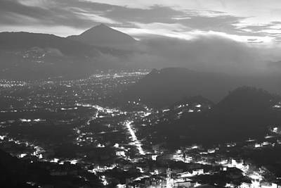 Photograph - Night Valley Monochrome by Marek Stepan