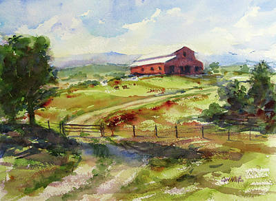 Painting - Tennessee Barn by Carl Whitten