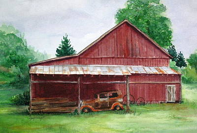 Tennessee Barn Art Print by Suzanne Krueger