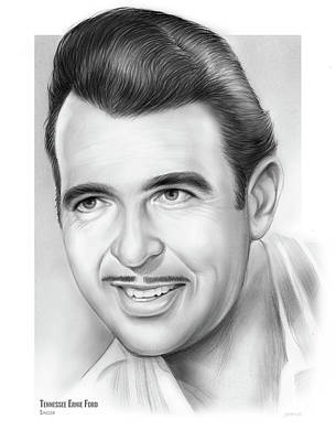 Gospel Music Drawing - Tennessee Ernie Ford by Greg Joens
