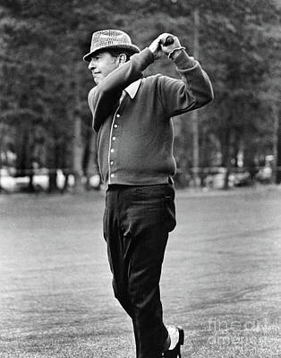 Photograph - Tennessee Ernie Ford, Singer And Actor Golfer At Pebble Beach Nati by California Views Mr Pat Hathaway Archives