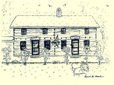 Tennessee Drawing - Tennessee Homestead by Carol Neal