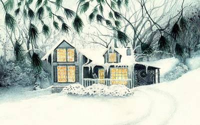 Painting - Tennessee Mountain Home  by Janine Riley