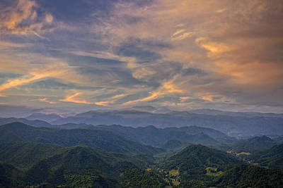 Photograph - Tennessee Mountains Sunset by Ken Barrett