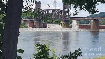 Photograph - Tennessee River Railroad Bridge Color Version by Rachel Hannah