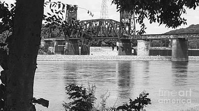 Photograph - Tennessee River Railroad Bridge by Rachel Hannah