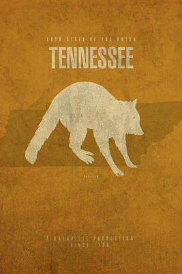Minimalist Mixed Media - Tennessee State Facts Minimalist Movie Poster Art by Design Turnpike
