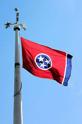 Photograph - Tennessee State Flag by Kristin Elmquist