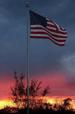Photograph - Tennessee Sunset And Flag by Ericamaxine Price