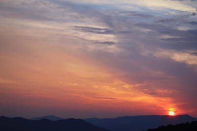 Tennessee Sunset Art Print by Beth Vincent