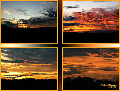 Art Print featuring the photograph Tennessee Sunset by EricaMaxine  Price