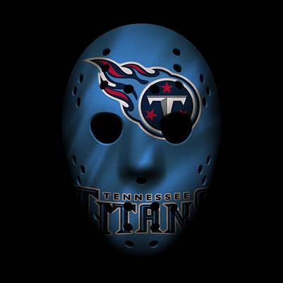 Titans Photograph - Tennessee Titans War Mask by Joe Hamilton