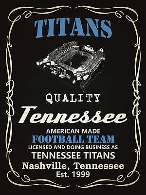 Mixed Media - Tennessee Titans Whiskey by Joe Hamilton