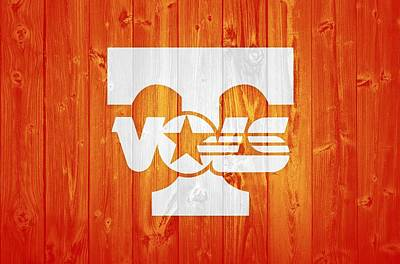 Mixed Media - Tennessee Volunteers Barn Door by Dan Sproul