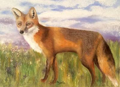 Painting - Tennessee Wildlife Red Fox by Annamarie Sidella-Felts