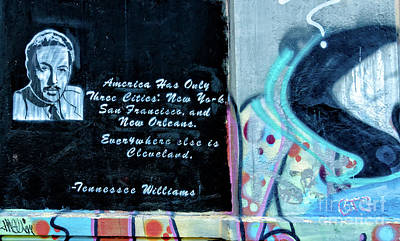 Photograph - Tennessee Williams Graffiti Wall- Nola by Kathleen K Parker