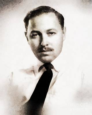 Playwright Painting - Tennessee Williams, Literary Legend by John Springfield