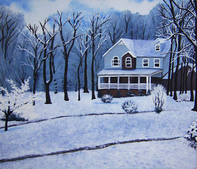 Tennessee Winter In The Smokies Art Print by Beth Parrish