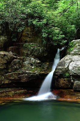 Photograph - Tennessee's Blue Hole Falls by Jamie Pattison
