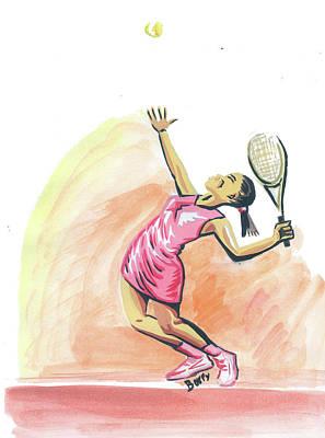 Tennis 03 Art Print by Emmanuel Baliyanga