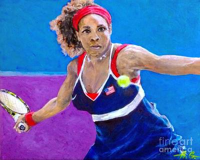 Serena Williams Painting - Serena Williams by Alexander Gatsaniouk