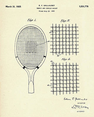 Racket Painting - Tennis And Similar Racket-1925 by Pablo Romero