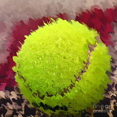 Sports Royalty-Free and Rights-Managed Images - Tennis Ball Abstract by Kaye Menner by Kaye Menner