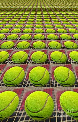 Sports Royalty-Free and Rights-Managed Images - Tennis Ball Zoom by Kaye Menner by Kaye Menner