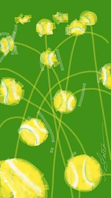 Tennis Balls At Me Art Print